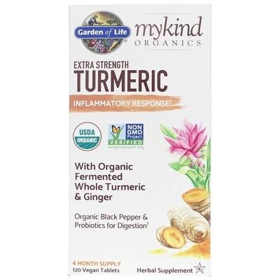 mykind Organics Turmeric Extra Strength Inflammatory Response - 120 Gummies