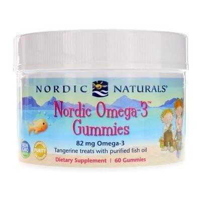 Nordic Omega-3 Gummies Tangerine - 60 Gummies