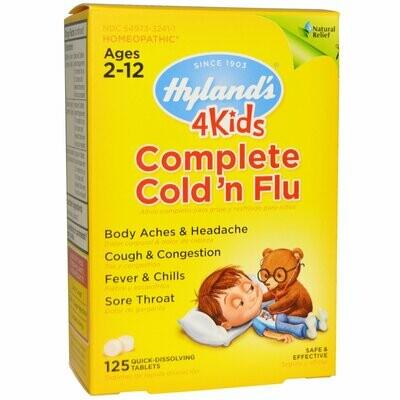 4 Kids Complete Cold & Flu - 125 Tablets