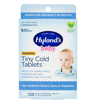 Baby Tiny Cold Tablets - 125 Count