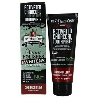 Activated Charcoal Toothpaste Fluoride-Free (Cinnamon Clove) - 4 oz