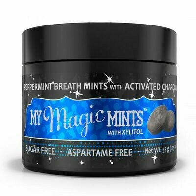 Activated Charcoal Peppermint Mints - 35 grams