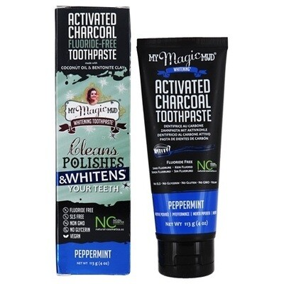 Activated Charcoal Toothpaste Fluoride-Free (Peppermint) - 4 oz
