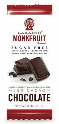 Lakanto monkfruit 55% cacao chocolate 3 oz.