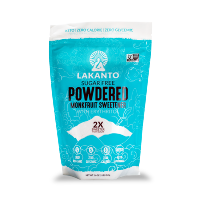 Monkfruit Sweetener, Powdered, Lakanto, 16 oz
