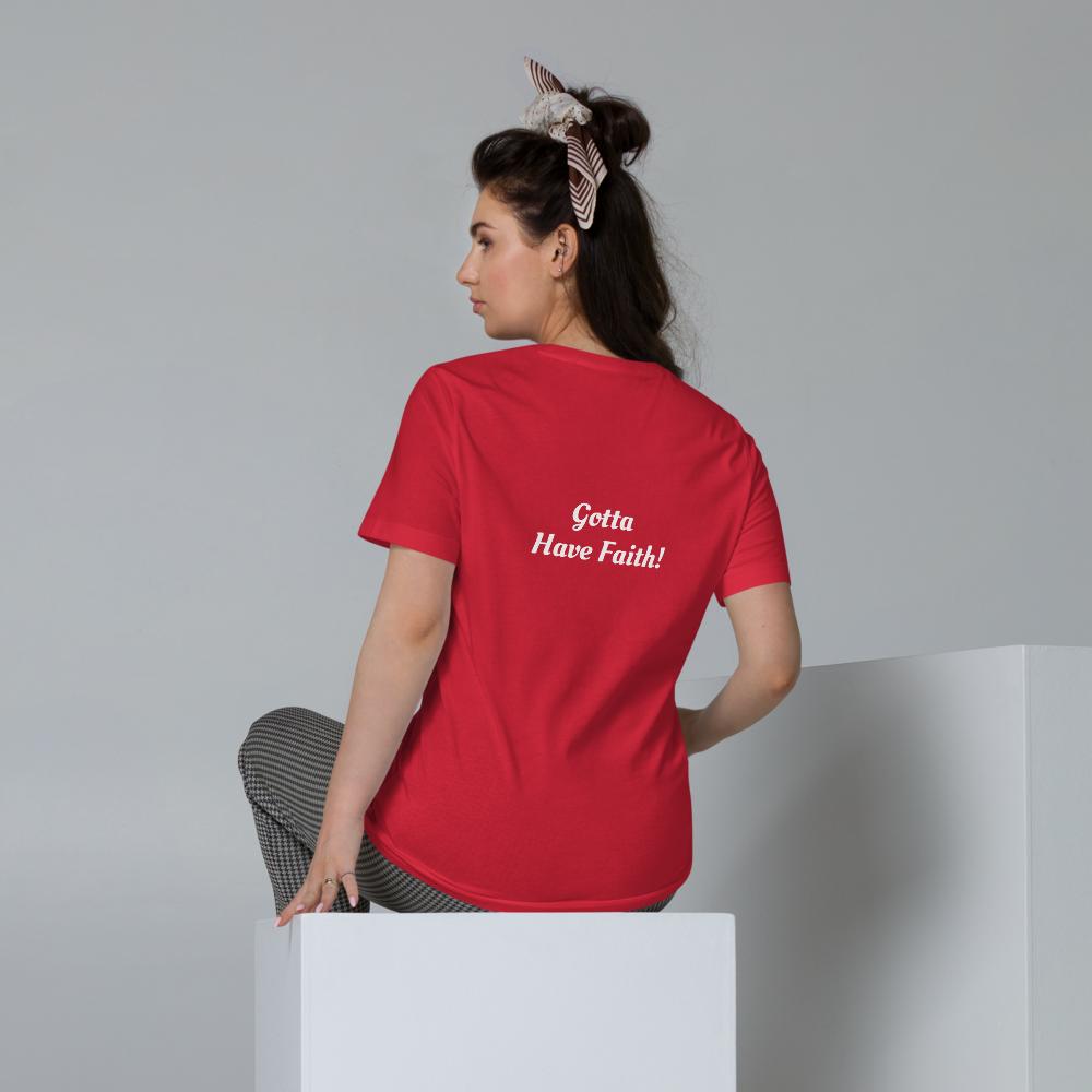 "Unisex Organic Cotton ""Faith"" Coloured T-Shirt"