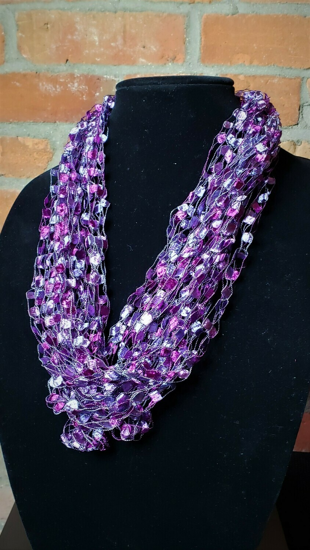 Purple Passion Ladder Yarn Necklace