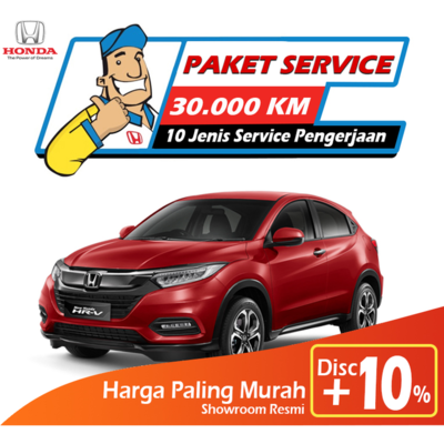 Paket Service Honda HRV 1.5 - 30.000km Untuk Wilayah JABODETABEK