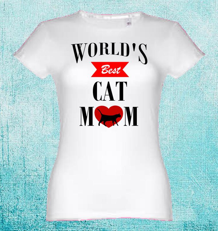 "T-Shirt ""World´s Best Cat Mom"""