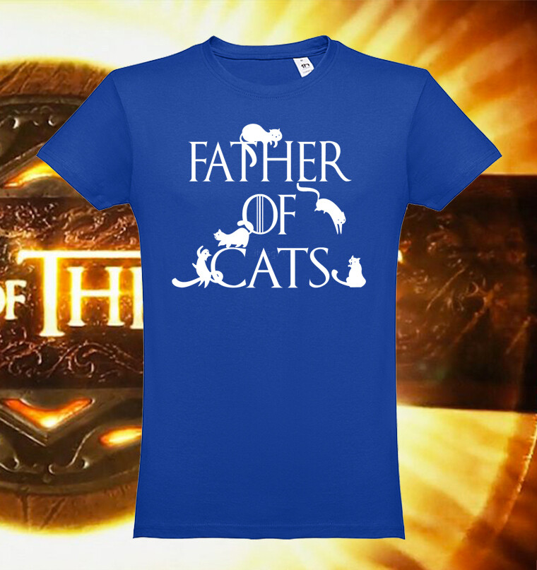 """T-Shirt """"Father of Cats"""""""