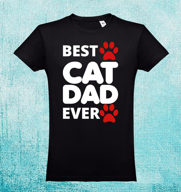 "T-Shirt ""Best Cat Dad Ever"""