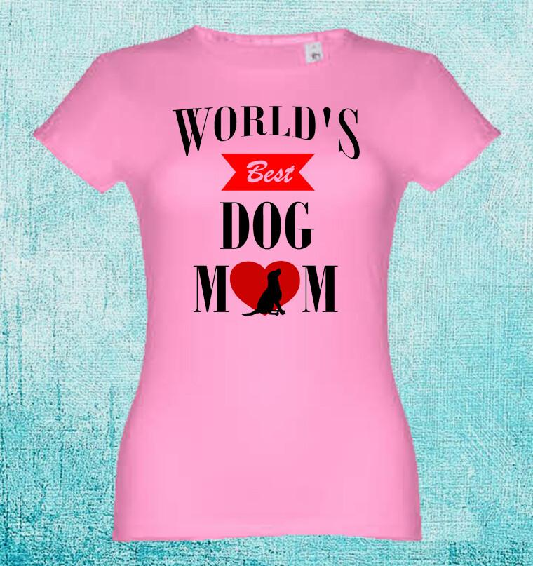 "T-Shirt ""World´s Best Dog Mom"""