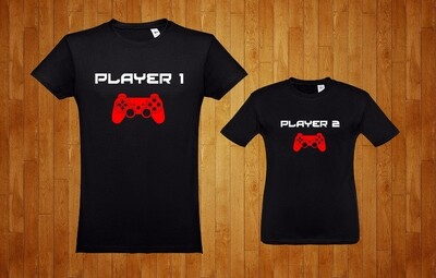 Conjunto 2 T-Shirts Player 1 - Player 2