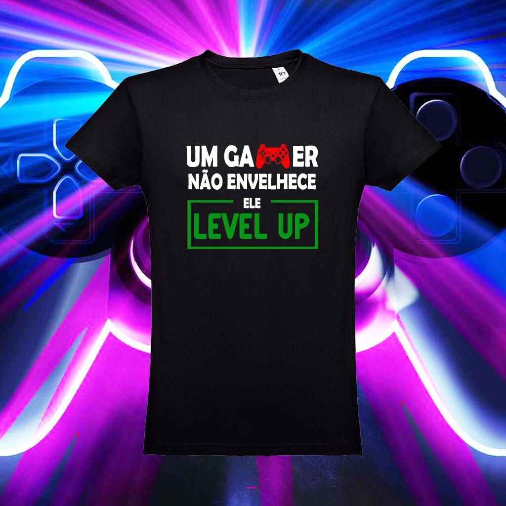 """T-Shirt """"Um Gamer não Envelhece..."""""""
