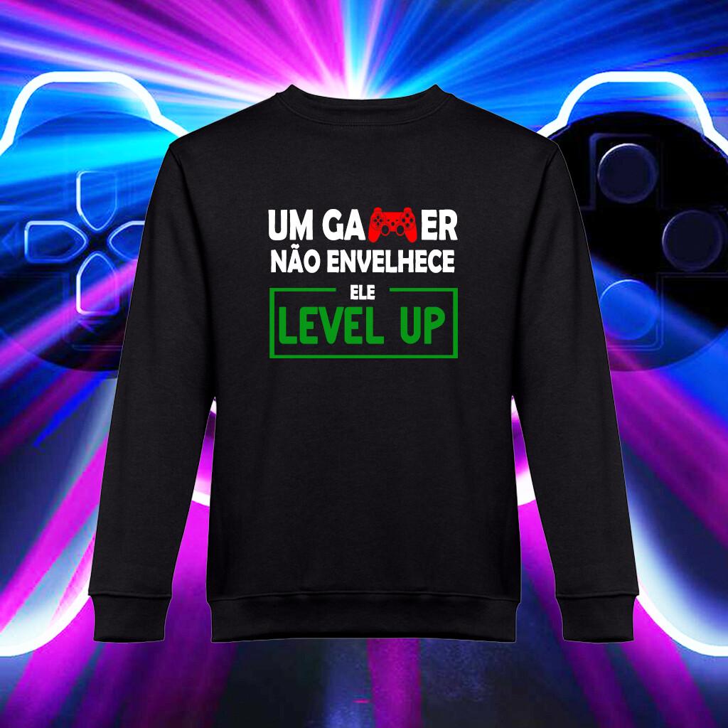 """Sweatshirt """"Um Gamer não Envelhece..."""""""