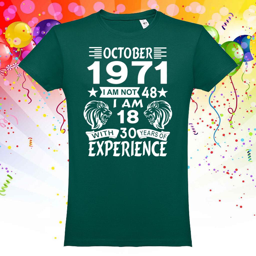 """T-Shirt """"Aniversário - Leão"""""""