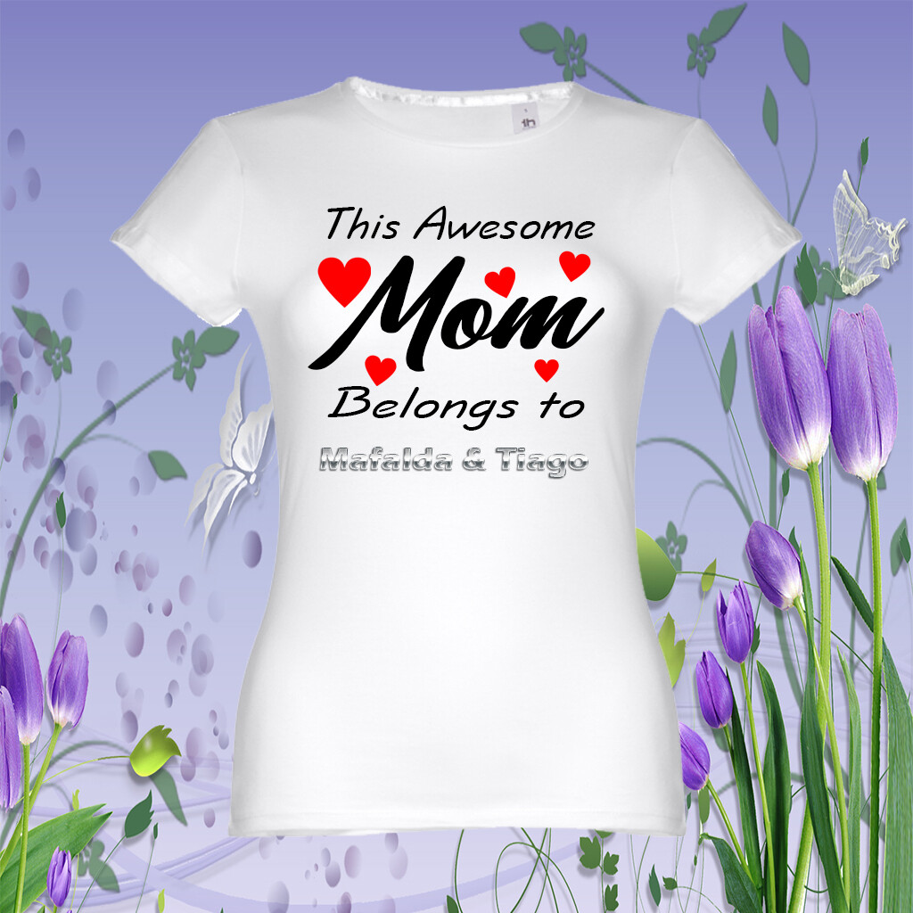 """T-Shirt """"Awesome Mom"""""""