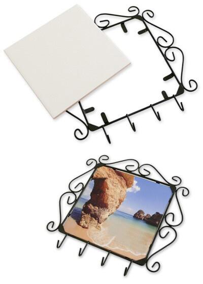 Suporte-Porta-Chaves com azulejo