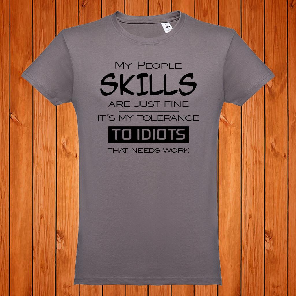 "T-Shirt ""People Skills"""