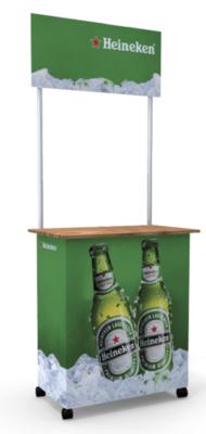 Stand Comptoir Team Midi – 85x50cm avec Topper