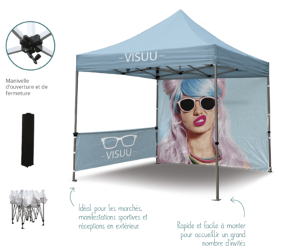 Zoom Tent 3×3 Full Color