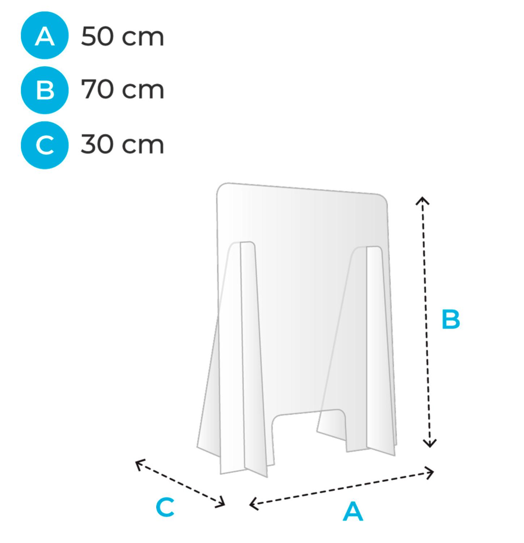 Chevalet Barrière de Protection Plexyglass 5mm