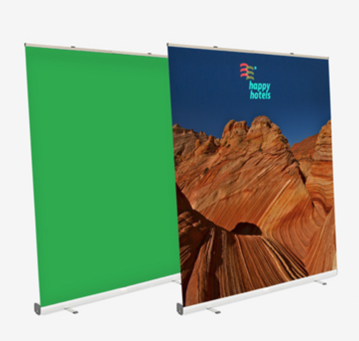 """Roll-up Green screen """"Toile de Fond Verte Télétravail"""""""