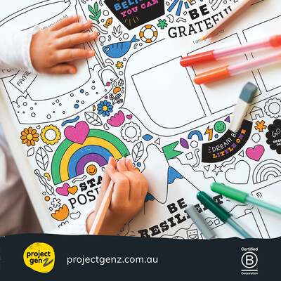 Supersize growth mindset colouring in worksheet Yrs 1-6