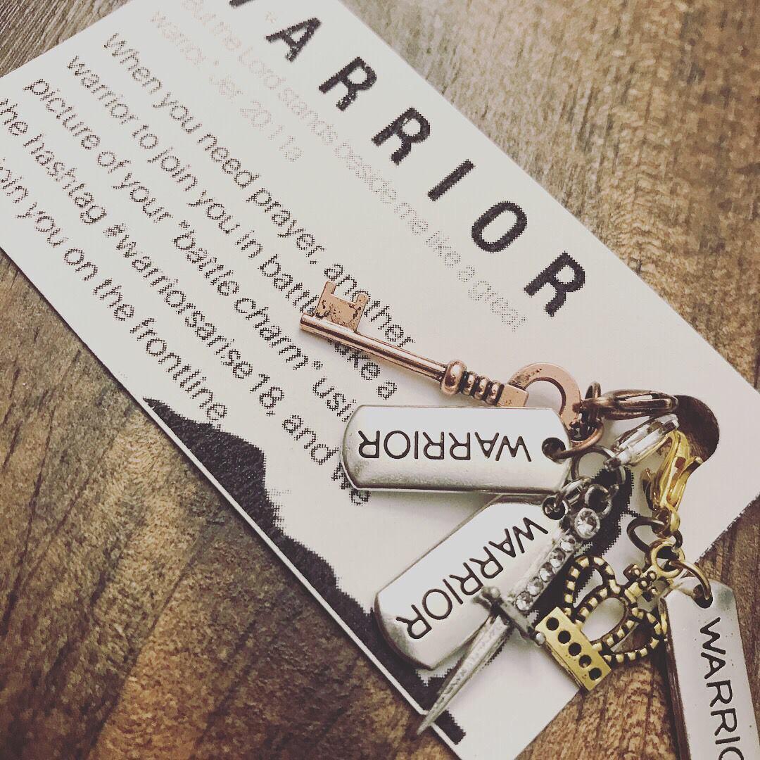 Warrior Charm with Bracelet (optional)