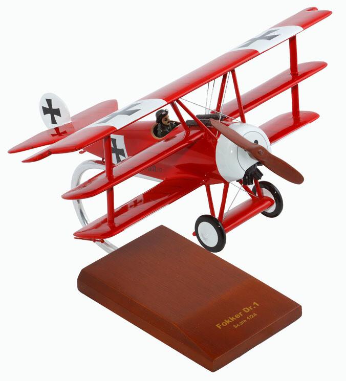 "Fokker Dr.1 ""Red Baron"" Model Airplane"