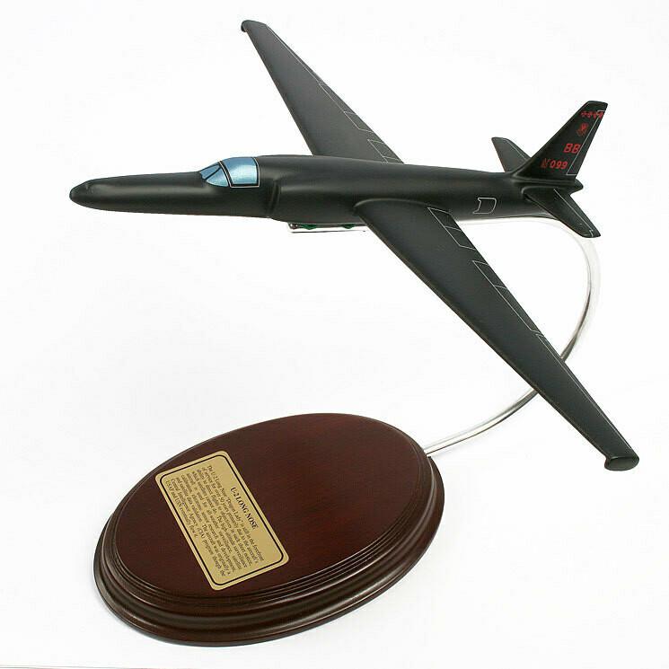 Lockheed U-2 Long Nose Wood Model Plane