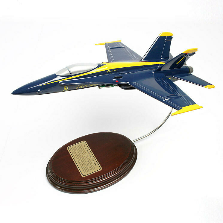 McDonnell Douglas F-18C Hornet (Blue Angels) 1/56 Desktop Model Aircraft