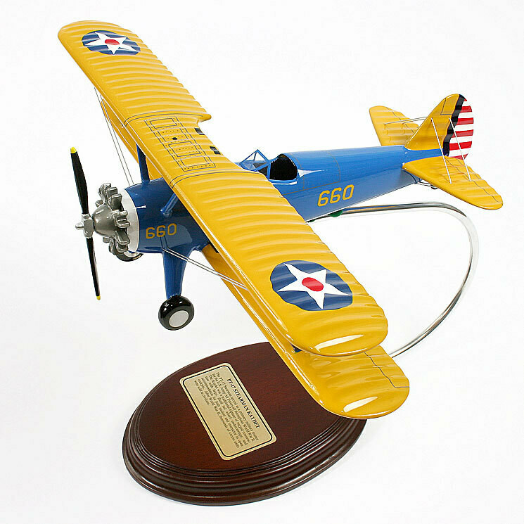 PT-17 Stearman Kaydet 1/32 Desktop Model Aircraft