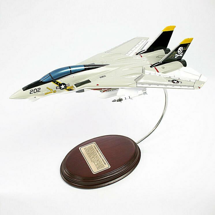 Grumman F-14A Tomcat Jolly Rogers 1/62 Desktop Combat Aircraft Model