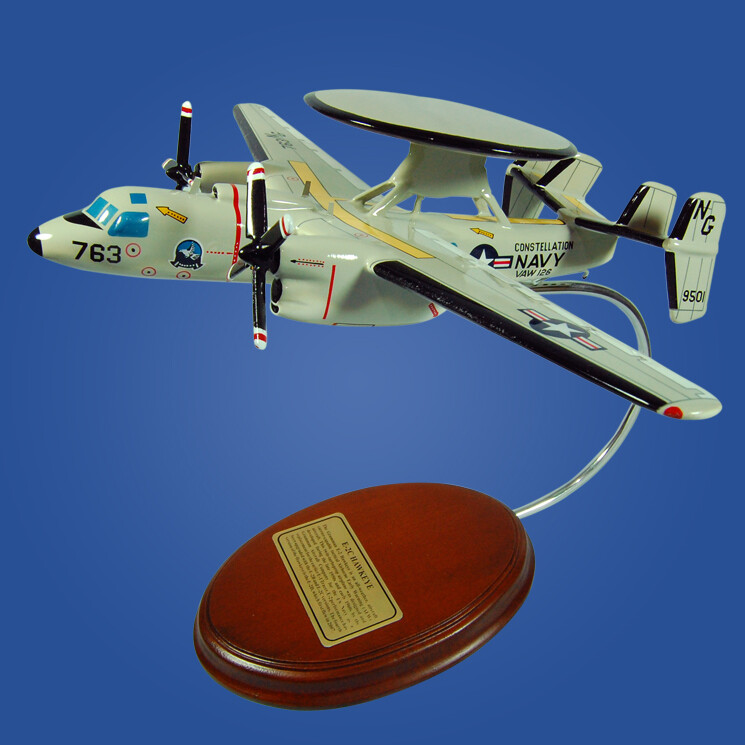 E-2C Hawkeye Wood Model Airplane