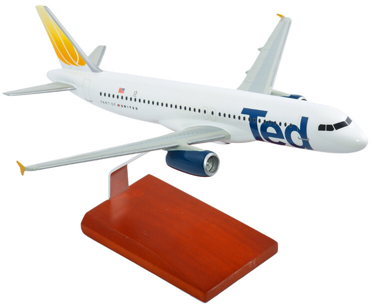 A320 United TED 1/100 Model Aircraft