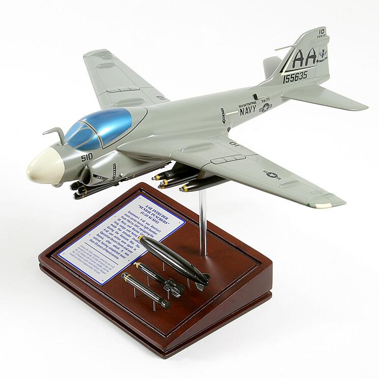 A6E Intruder Wood Model Plane