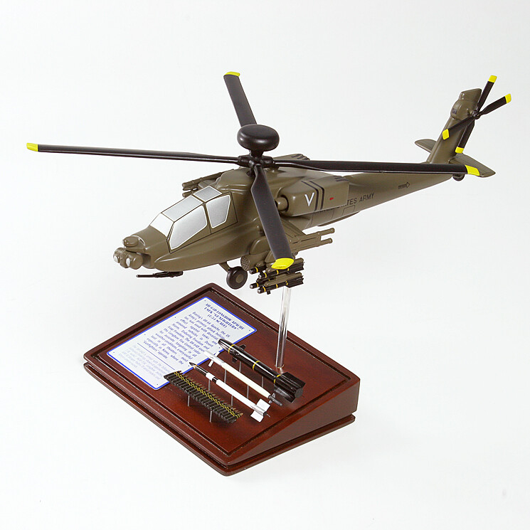 AH-64D Longbow Apache Wood Model Helicopter
