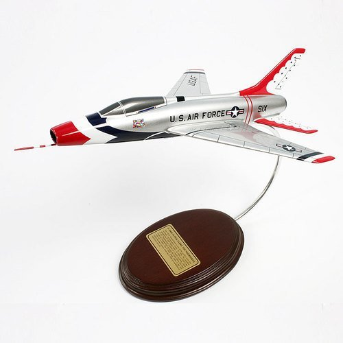 North American F-100D Super Sabre (Thunderbirds) 1/49 Desktop Model Aircraft