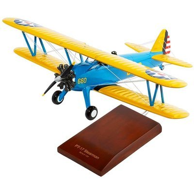 PT-17A Stearman Kaydet 1/24 Scale Model Aircraft