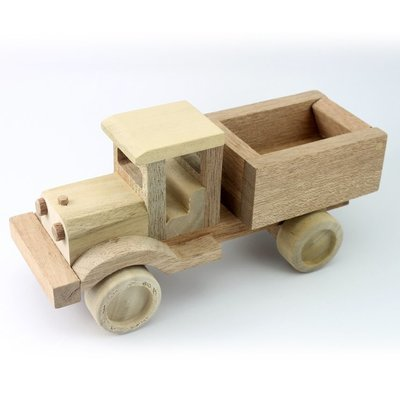 Wooden Toy Dump Truck 9.0 Inches (Length)