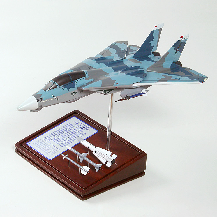 F-14A Tomcat 1/62 Wood Model Aircraft with Scale Ammunition