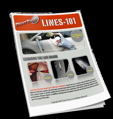 PDR Line Board Manual eBook- Paintless Dent Repair / Removal Training Tutorial