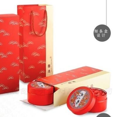 202065 Коробка подарочная, картон (3 жестяные банки)
