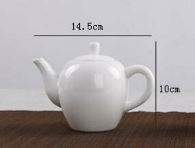 242062 Чайник, фарфор. Цвет белый. Объем 130мл. Размер 14см х 10см
