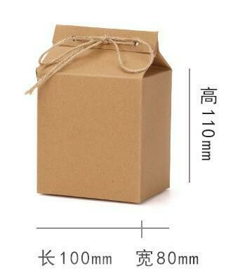 "269040 Коробка подар. ""№530"" с бечевкой, h=11см, размер=10*8см, картон крафт"