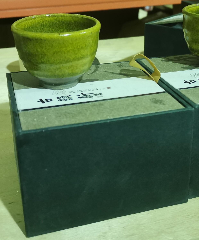 """20701.1 Пиала """"Японский стиль"""" колокол, в подар.коробке, керамика, зеленый"""