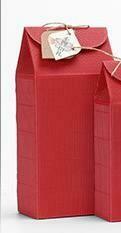 """269064 Коробка подар. """"Большая"""" размер=25,5*11,5*7см, картон гофрир. красный В РАЗОБРАННОМ ВИДЕ"""