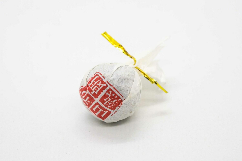59174 Чай прессованный черный Пуэр Шу  Буланшань Лун Чжу - Жемчужина Дракона (сяо то)