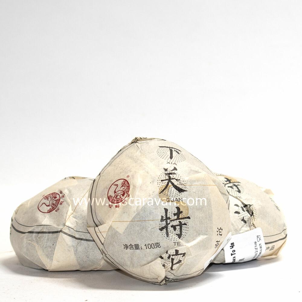 """0496/2019 Чай прессованный зеленый """"Пуэр Шэн """"Тецзи"""" (то ча, 100 гр)"""